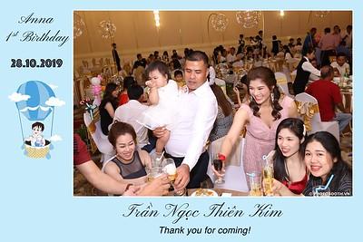 Anna's 1st Birthday instant print photobooth @ The Adora Nguyễn Kiệm | Chụp ảnh in hình lấy liền Tiệc Thôi Nôi tại TP. Hồ Chí Minh | Photobooth Saigon