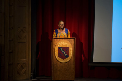 Anna Msowoya-Keys, Founder and President of Maloto speaks to Taft students.