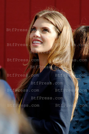 "AnnaLynne McCord during the set of the Serie ""90210"" at the Santa Monica pier in Santa Monica,California."
