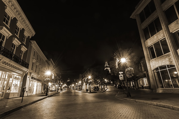 Early Morning, Empty Main Street