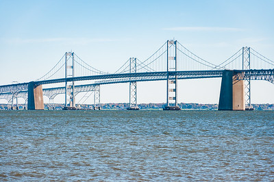 View of Chesapeake Bay Bridge from Sandy Point State Park, Maryland