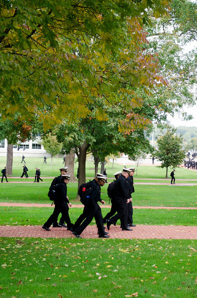 Cadets head to class