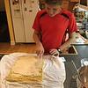 Tanner making his first Bunche de Noel  12/3/2016