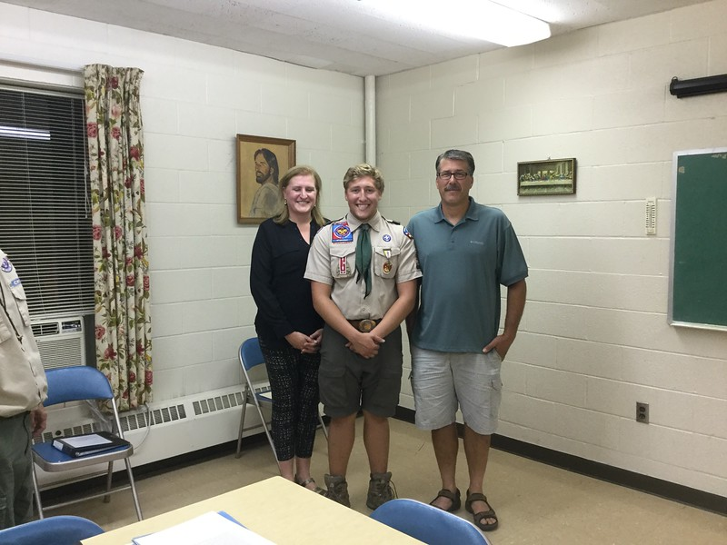 Eagle Scout!  August 23, 2017 in Copley, OH