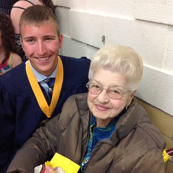 Thomas's graduation from Copley High School with Grammy - May 31, 2015