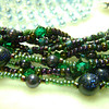 "Robin's ""Pearly Q"" and my multi-strand bracelets"