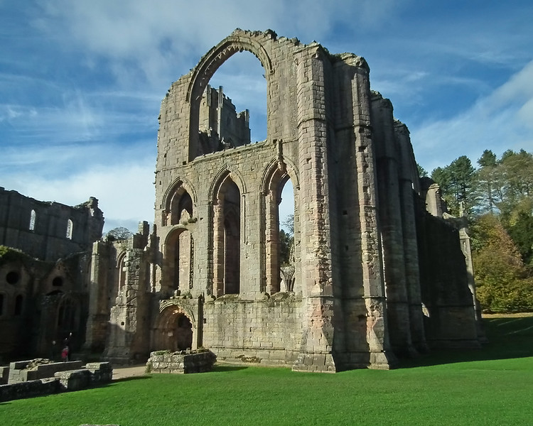 Fountains Abbey in October