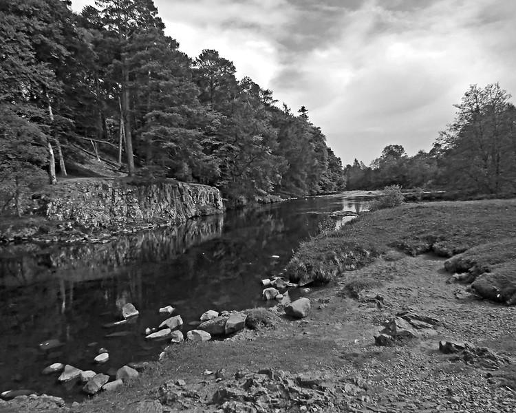 Bluebell walk along the lower falls