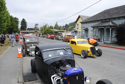 Hot roads on Railroad Avenue in Blue Lake on Sunday morning for a car show. (Hunter Cresswell - The Times-Standard)