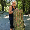 """Annie with """"the tree stump"""""""
