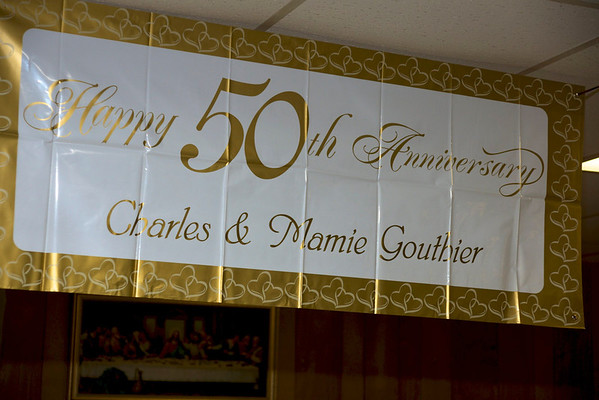 Happy 50th Anniversary Charles & Mamie Gouthier