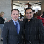 Speed Art Museum CEO Ghislain d\'Humiéres and Ankur Gopal.