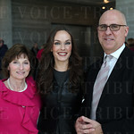 Connie Goodman, Karen LaClare Casi and Speed Art Museum Board of Trustees member Eric Doninger.