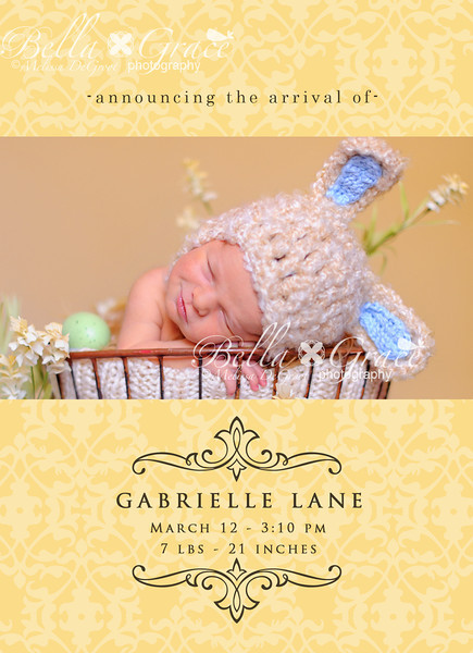 5x7: Gabrielle. This card is also available as a Luxe card in the Luxe cards gallery.
