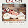 Simply Liam: 5x7 double sided card (front side). See next image for the back side of this card. All colors are customizable to the color scheme in your images. This can also be printed as a single sided photo card if preferred.