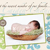 Caiden Creme: A folded 5x7 card. This image shows the front of the card (folded closed). Caiden is only available in a 5x7 at this time. SEE THE NEXT PICTURE FOR THE INSIDE AND BACK OF THIS CARD.