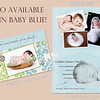 Caiden Blue: 5x7 Folded Card. Here is the front and inside. The back will be the same as the Caiden Creme, only with blue, matching the front of Caiden Blue.