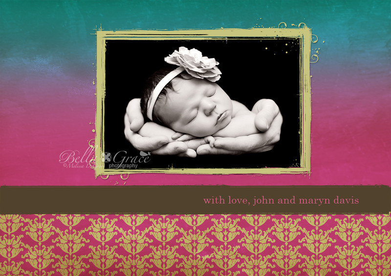 BACK OF THE EMMA FAITH 5X7 FOLDED CARD. SEE PREVIOUS 2 IMAGES FOR THE FRONT AND INSIDE.
