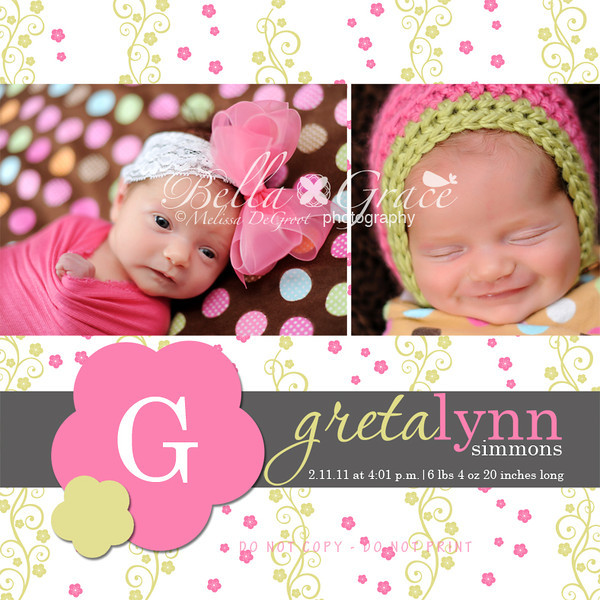Greta 5x5 double sided card (front side)