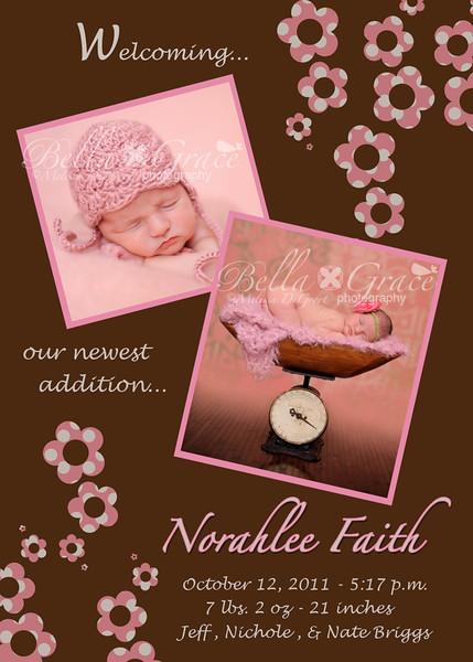 5x7 Norahlee Faith: Flat, one side.