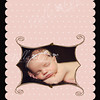 5x7 Stolen Hearts Luxe card (back). The image on the back can be either horizontal (as shown) or vertical (like on the front of card.)