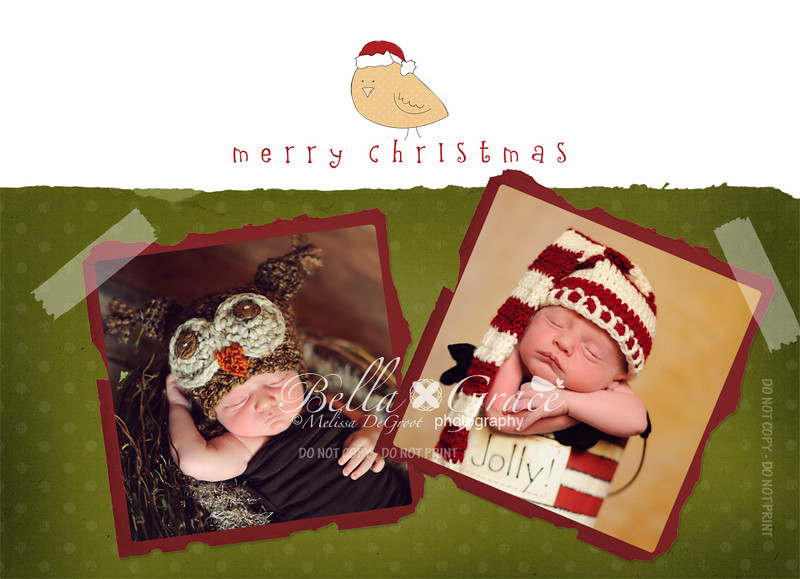 Tweet Merry Christmas 5x7 (front side)