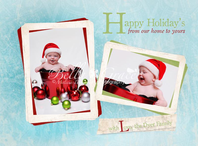 Happy Holidays 5x7