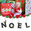 Noel 5x7 folded card. (Front)