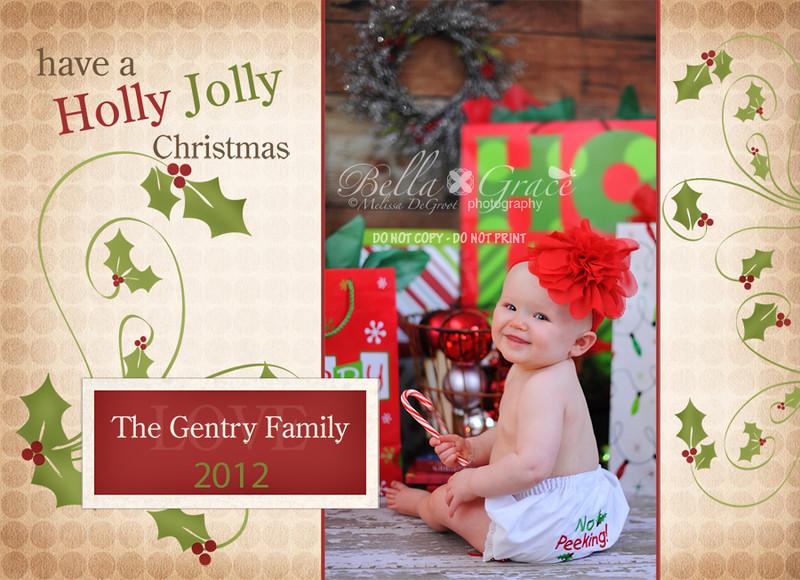 Holly Jolly 5x7, horizontal.