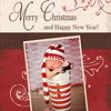 Vintage Merry Christmas: 5x7 (This design also has an available matching backside, that has a place for 2 images and more text).