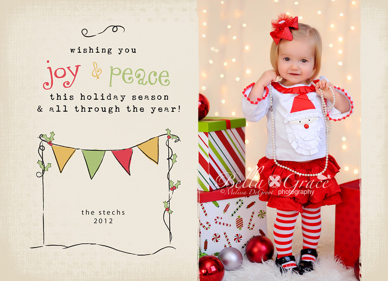 Holiday Bunting 5x7 (front). Shown with 1 image.