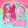 Bella: Double sided 5x5 invitation. FRONT SIDE