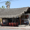 Todos Santos - I lost my hat during the trip and I found it - it's on one of the stools in the cafe.
