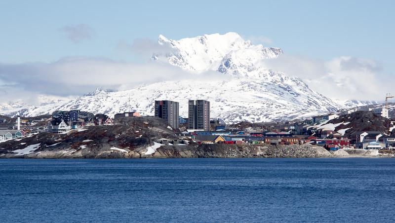 Entering Nuuk, Greenland
