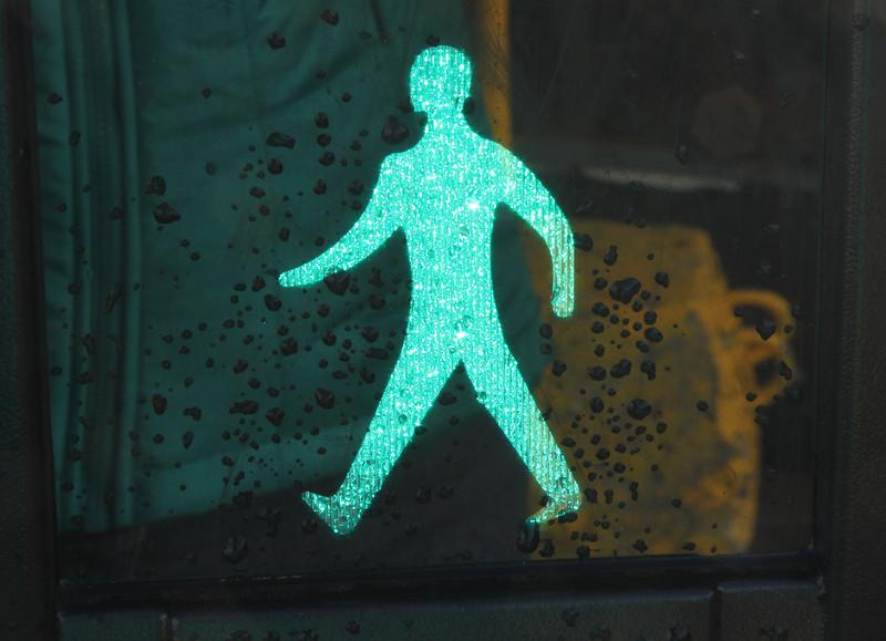 Walking man in Reykjavik