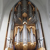 Reykjavik - organ pipes (total number of pipes is 5275) in the Hallgrimskirja   The church is built of concrete   Darryl has photos of the outside