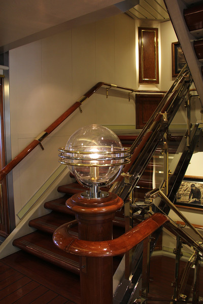 The interior of our ship is decorated in the Art Deco style
