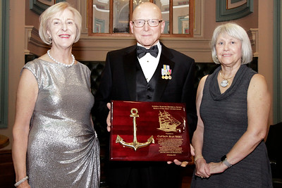 NMHS_2019_042 Award Recipient Jean Wort with Admiral Robert J  Papp and Joanne O'Neil