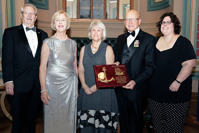 NMHS_2019_030 Award Recipient Jean Wort with Ronald Oswald, Admiral Papp, Joanne and Jacquie O'Neil