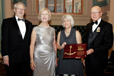 NMHS_2019_043 Award Recipient Jean Wort with Ronald Oswald, Admiral Robert J  Papp and Joanne O'Neil