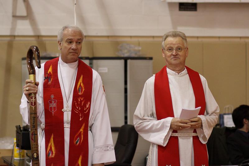 Bishop Tom Bickerton and David Morse.