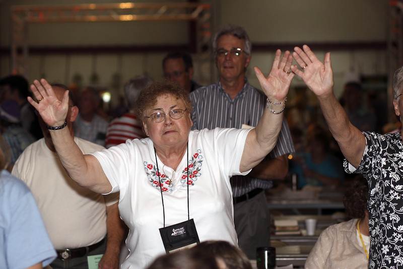 Arlene Bobrowicz, South Fork: Wesley, during afternoon praise and worship on Saturday.