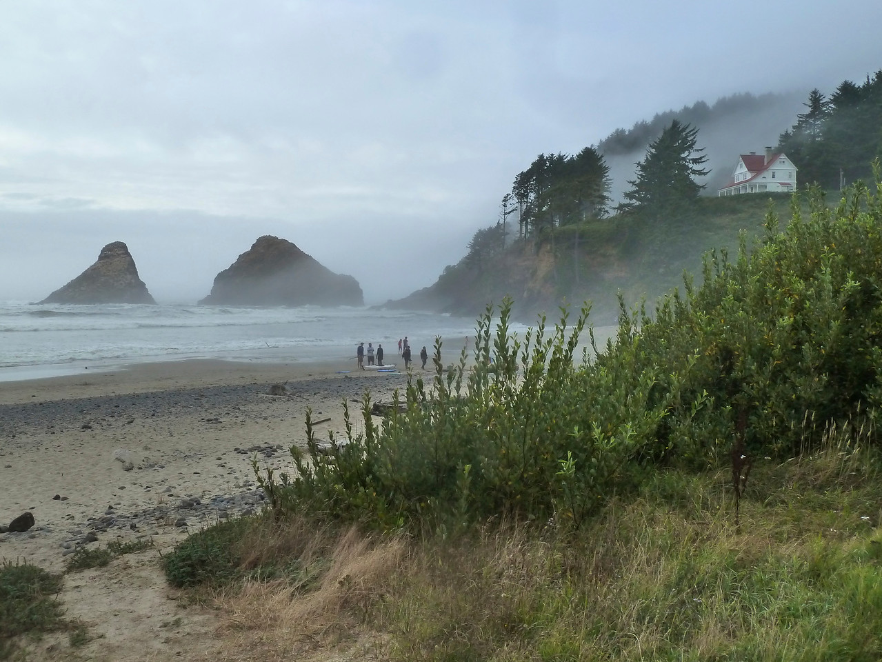 Note the famous summer fog of the Oregon Coast!