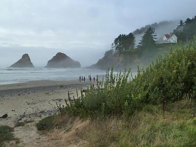 Note the famous summer fog of the Oregon Coast!