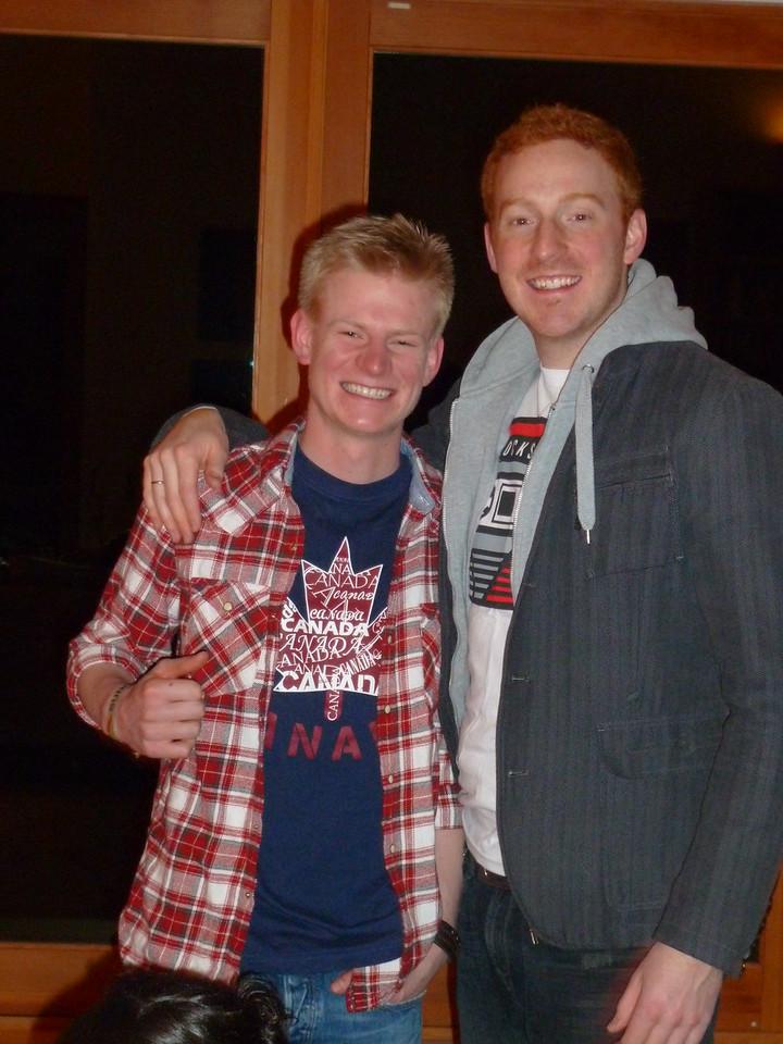 Cousins Paul and Niel!