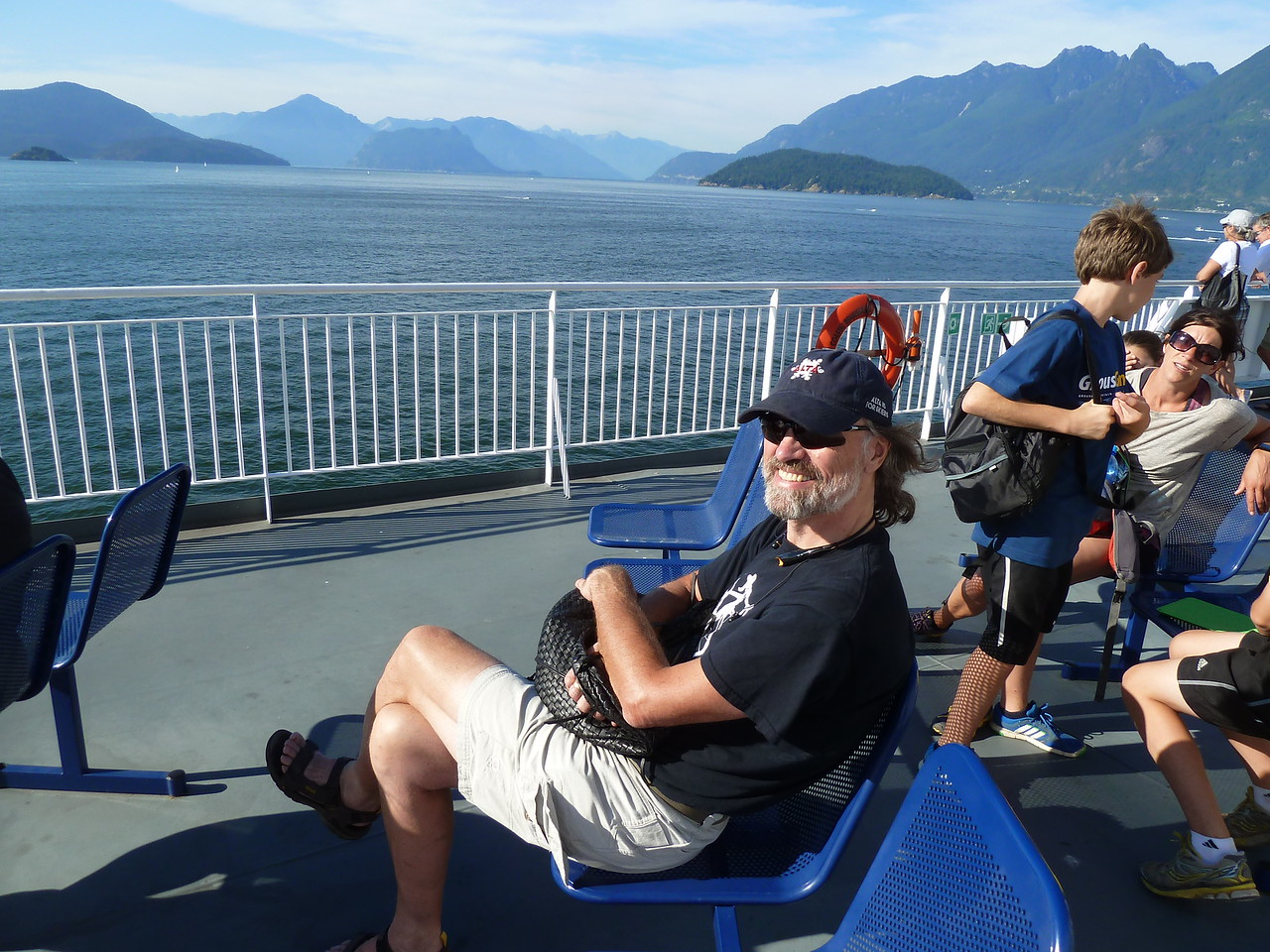 On the ferry to Nanaimo, Vancouver Island, passing through fabulous Howe Sound.