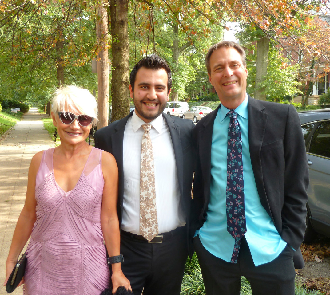 From l to r: The incomparable Natalia with husband Eric on the right at Elliot's and Hannah's wedding in Louisville, Kentucky.