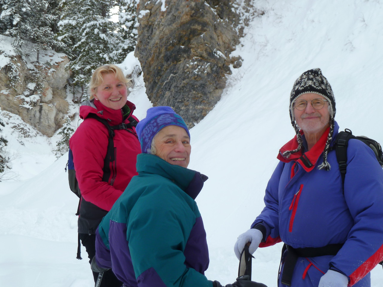 Snowshoeing with Claire and Peter after a major snowfall on Boxing Day.