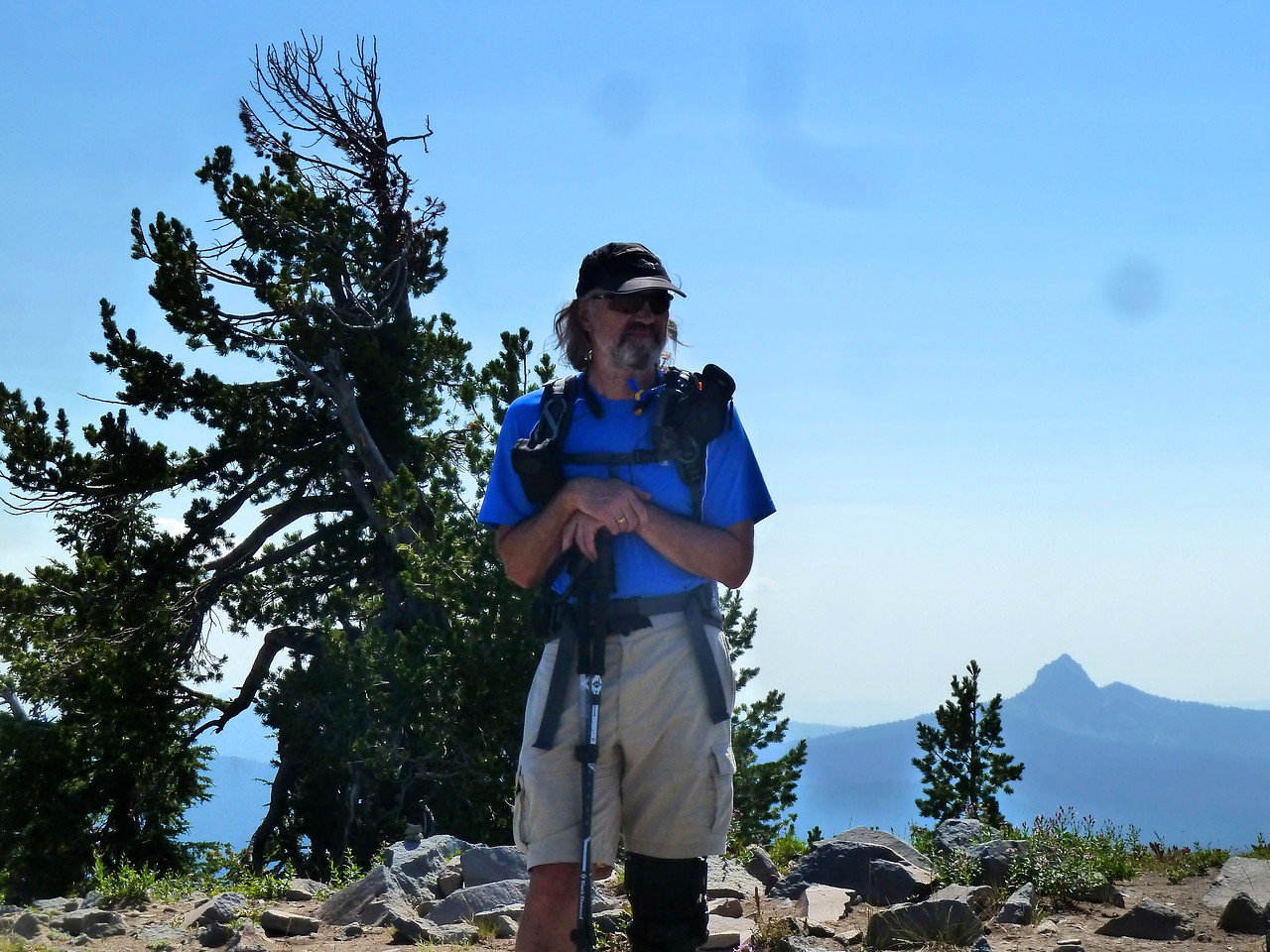 Hiking up the Garfield Peak Trail in Crater National Park!
