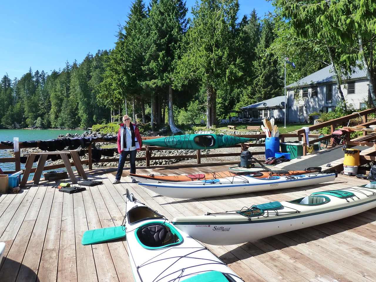 Our kayaking destination, Sechart Lodge in the Broken Islands on Vancouver Island, Canada.